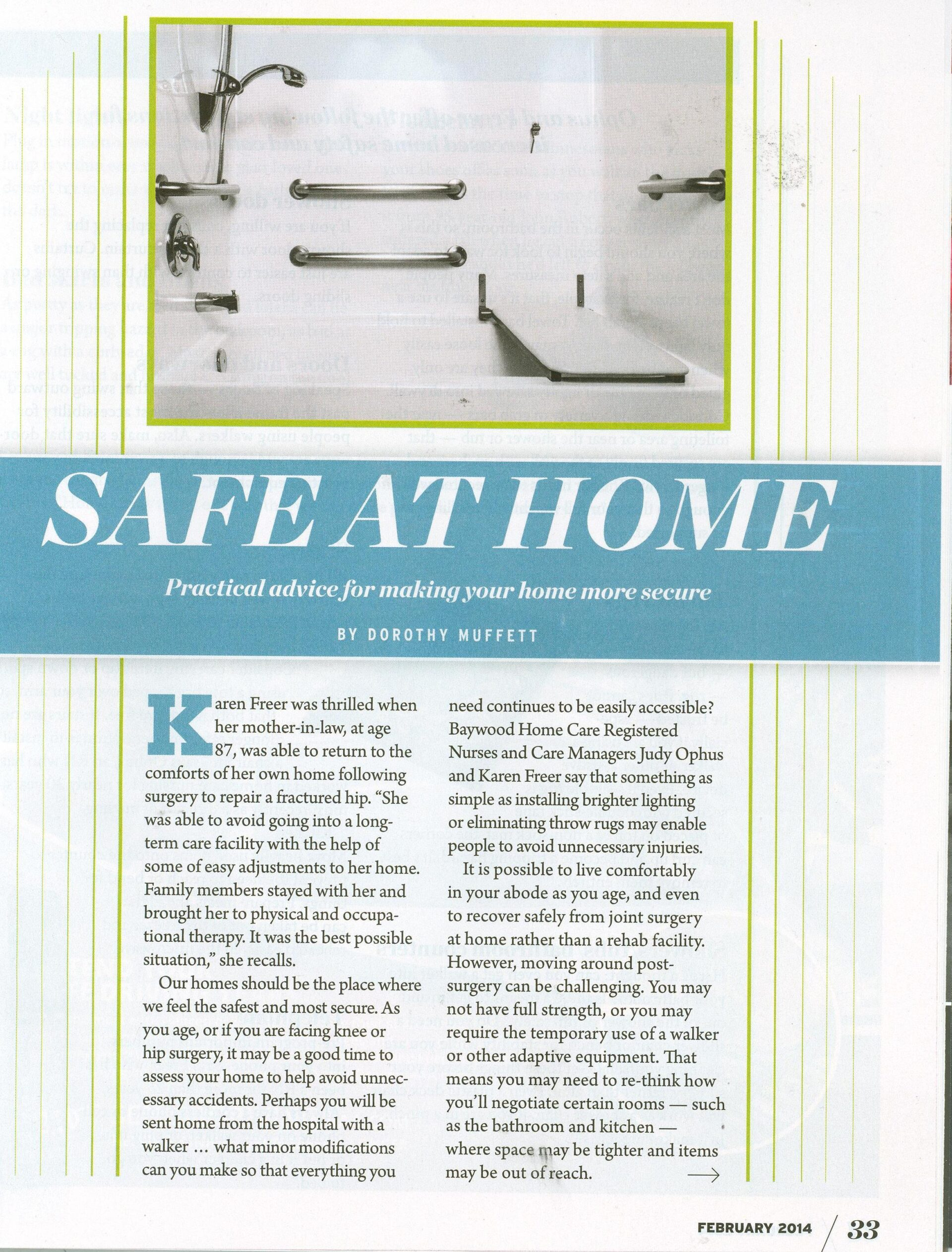 Safe at Home - Making Your Home More Secure l Baywood